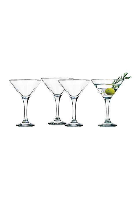 6 Ounce Martini Glasses - Set of 4