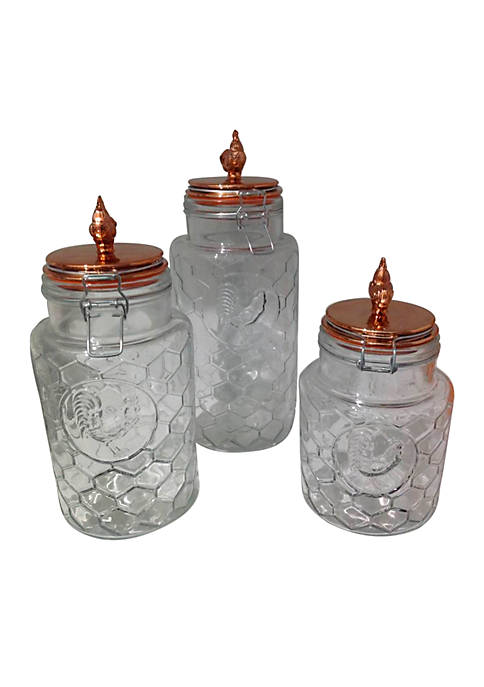 Home Essentials Country Chic Copper Canister Set
