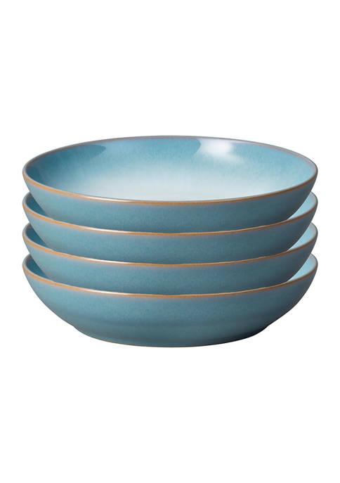 Denby Azure Coupe Set of 4 Pasta Bowls