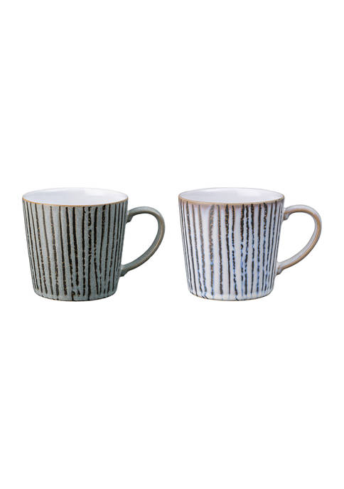 Denby Handcrafted Set of 2 Coffee Mugs