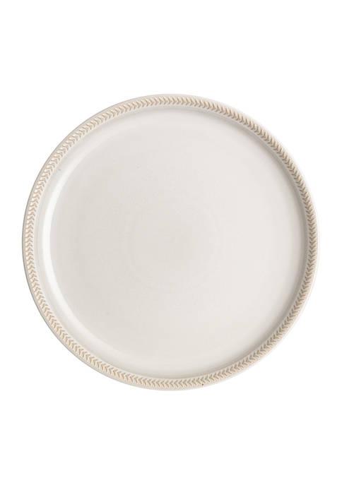 Denby NatCnvs Text Coupe Plate