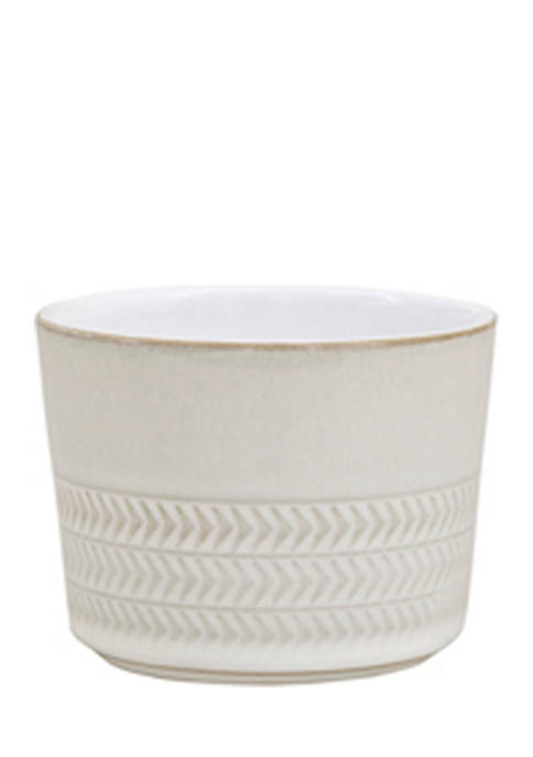 Denby Natural Canvas Textured Sugar Bowl/Ramekin
