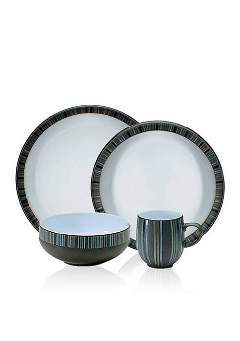 Denby Jet Stripes 16-Piece Dinnerware Set
