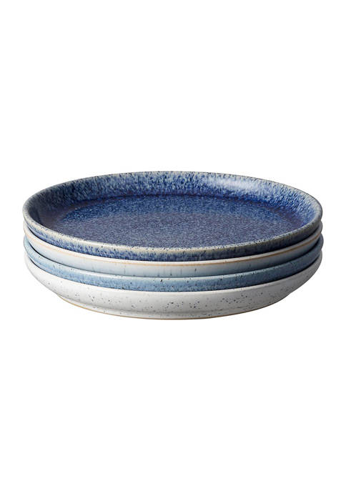 Denby Studio Blue 4 Piece Medium Coupe Plate