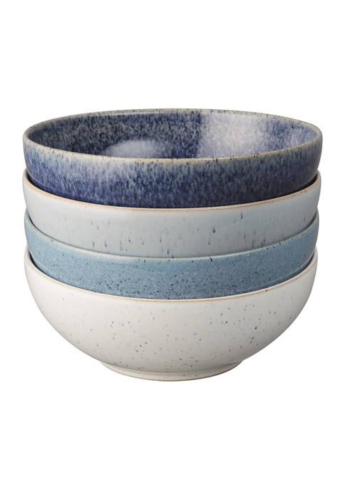 Denby Studio Blue Set of 4 Cereal Bowls