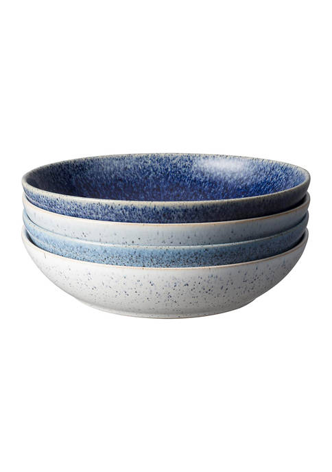 Denby Studio Blue Set of 4 Pasta Bowls