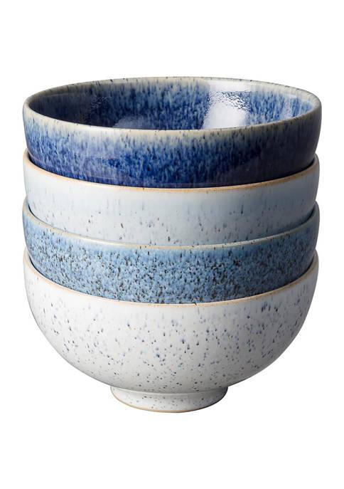 Denby Studio Blue Set of 4 Rice Bowls