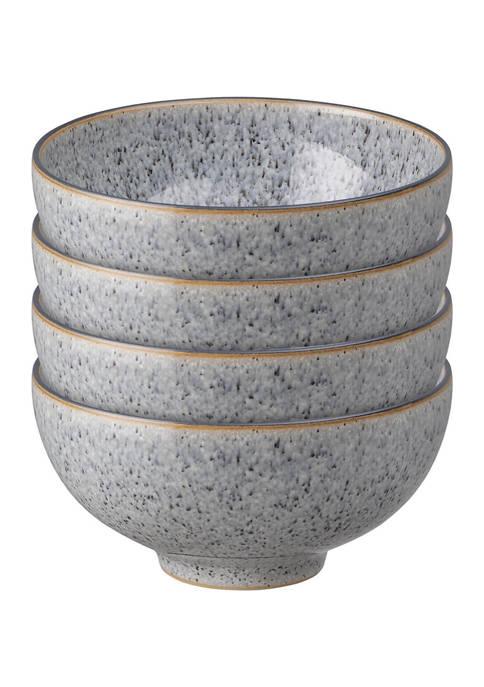 Denby Studio Grey Set of 4 Rice Bowls