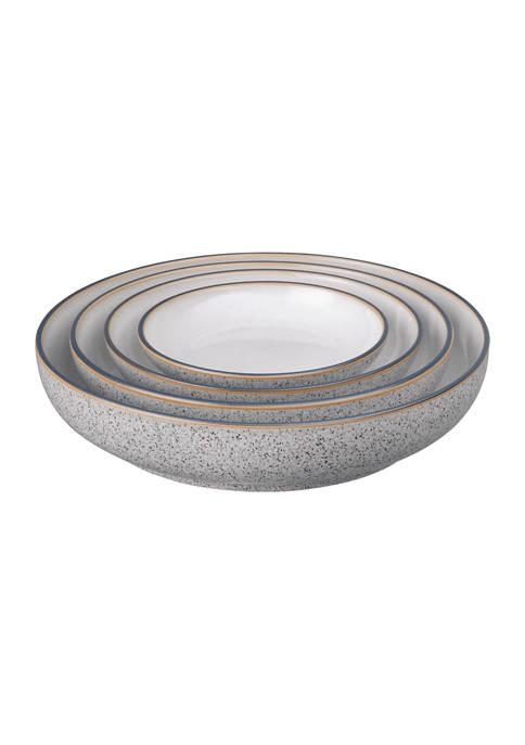 Denby Studio Grey Set of 4 Nesting Bowls