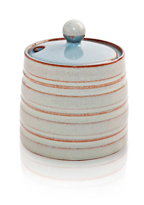 Denby Heritage Terrace Gray Covered Sugar Bowl