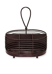 Gourmet Basics Rope Napkin & Flatware Caddy