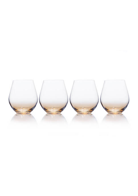 Gianna Stemless Wine Glasses, Set of 4