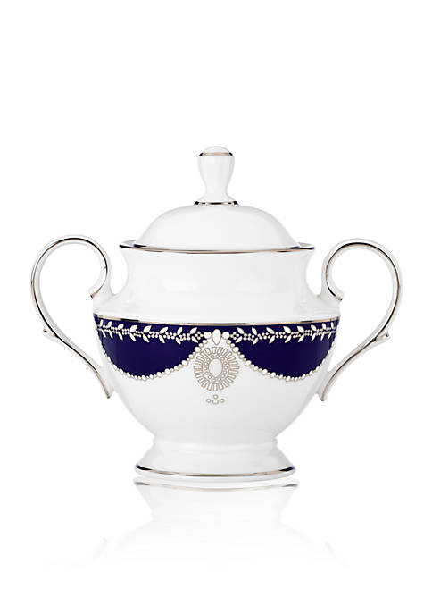 Marchesa Empire Pearl Indigo Covered Sugar Bowl 5.25-in.