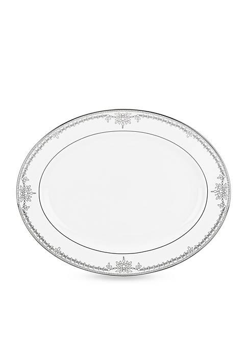 Marchesa Empire Pearl White Platter 16-in.