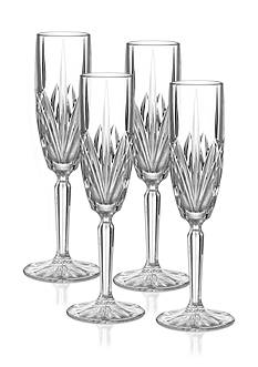 Marquis by Waterford Brookside Set of 4 Flute Glasses