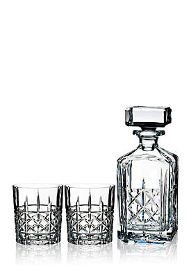 Brady Double Old Fashioned Pair with Decanter