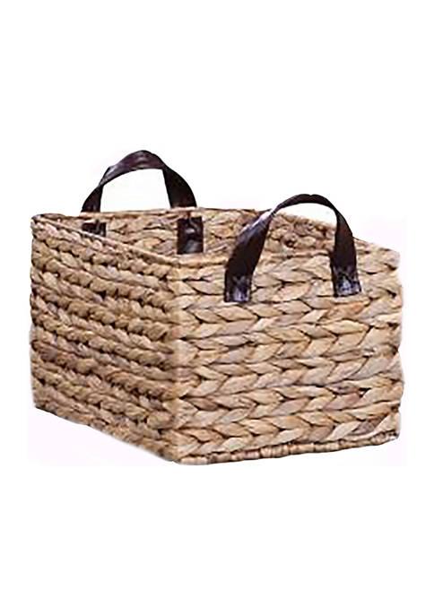 Baum Brothers Water Hyacinth Wicker Basket