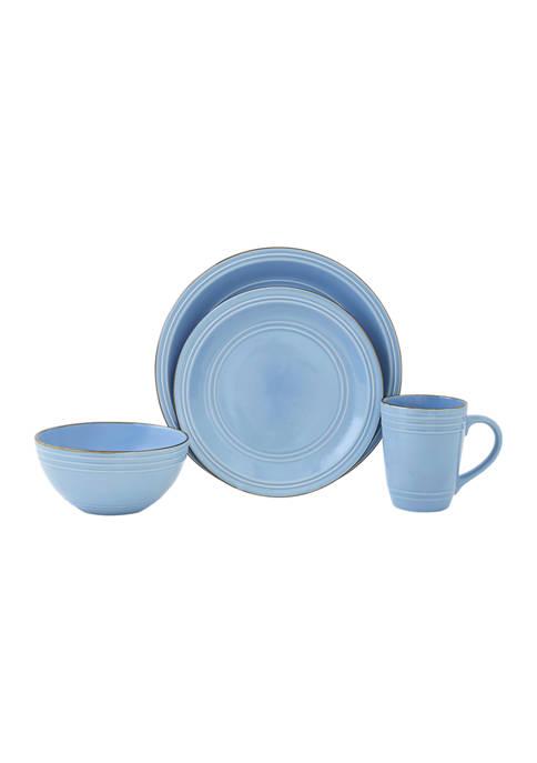 Allure Blue 16 Piece Stoneware Set