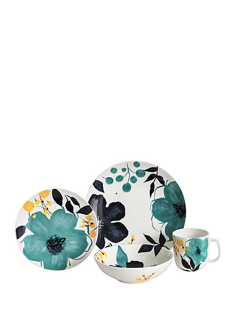 Baum Brothers Bella Floral 16 PIece Dinnerware Set