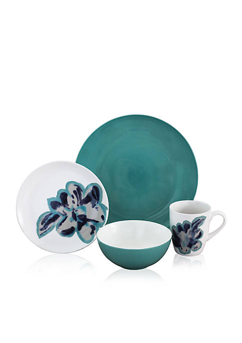Baum Brothers Bloom Jade 16-pc. Dinnerware Set