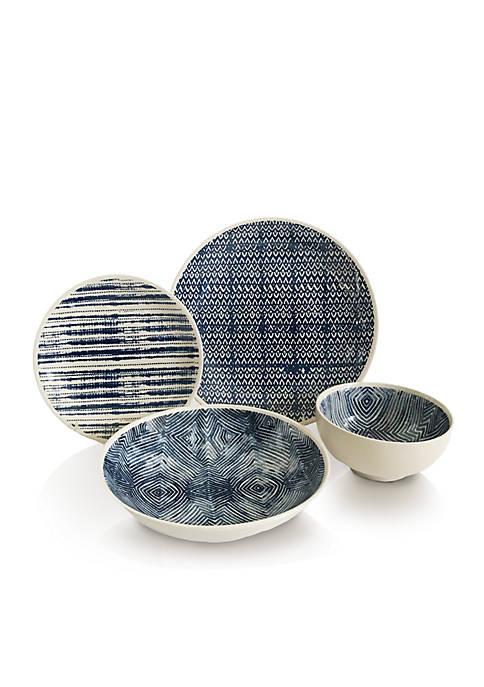 Baum Brothers Dalton Blue 16-Piece Dinnerware Set
