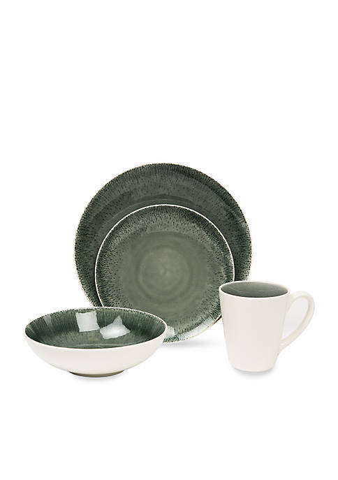 Fused Gray 16-Piece Dinnerware Set