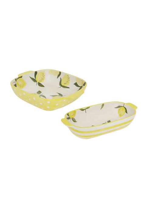 Baum Brothers Lemon Tango 2-Piece Baking Set