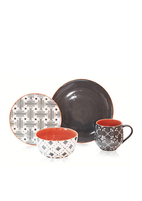 Baum Brothers Lynx 16-Piece Dinnerware Set