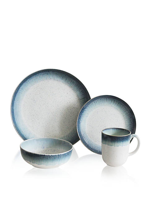 Baum Brothers Marina Blue 16-Piece Dinnerware Set