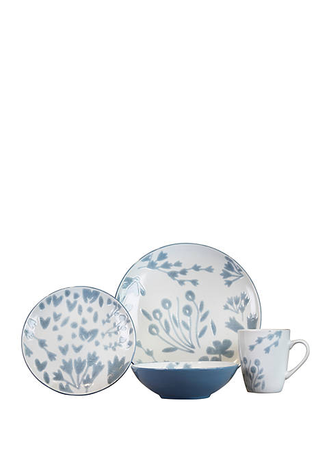 Baum Brothers Marisol 16 Piece Floral Reactive Dinnerware