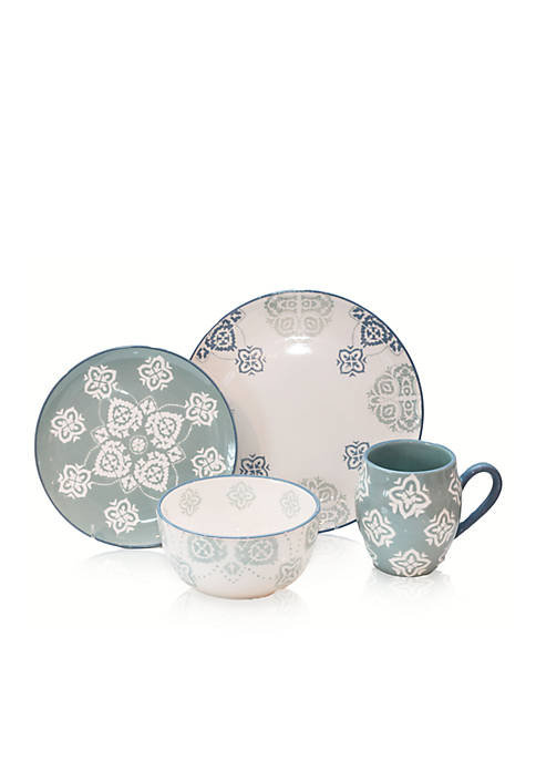 Baum Brothers Painterly 16-Piece Dinnerware Set, Service for
