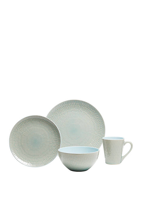 Baum Brothers Palisades Mint Dinnerware 16-Piece Set