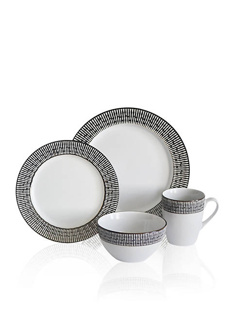 Baum Brothers Patina 16-Piece Dinnerware Set