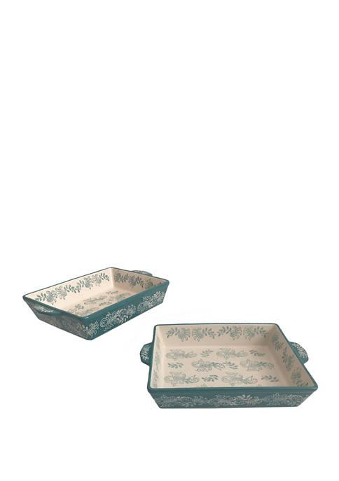 Set of 2 Nested Rectangular Baking Dishes