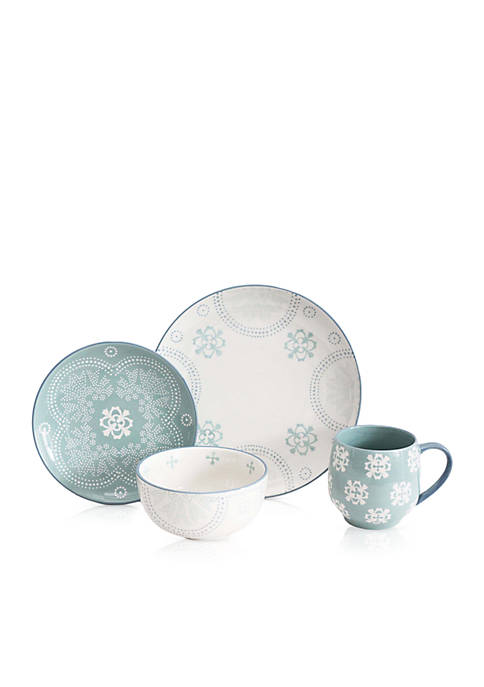 Baum Brothers Phara Sky 16-Piece Dinnerware Set