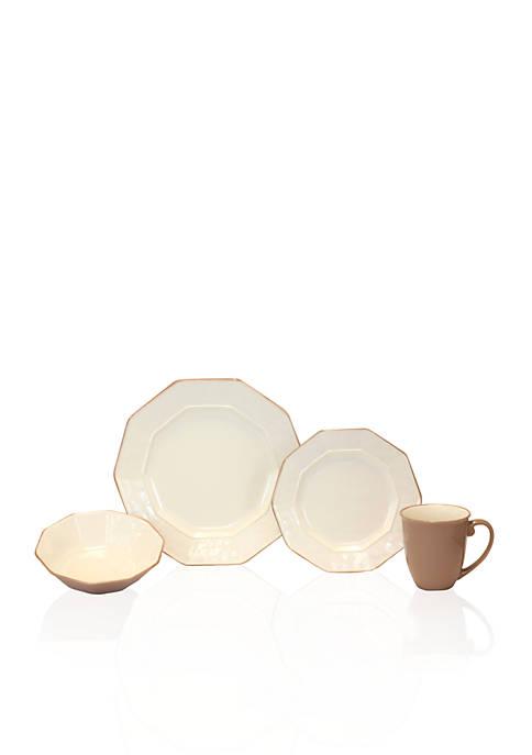 Baum Brothers Prisma Cream 16-Piece Dinnerware Set