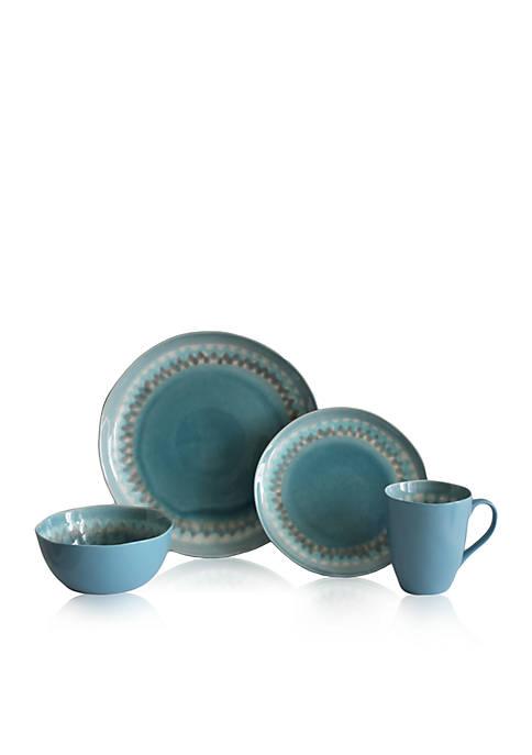 Shibori Aqua 16-pc. Dinnerware Set