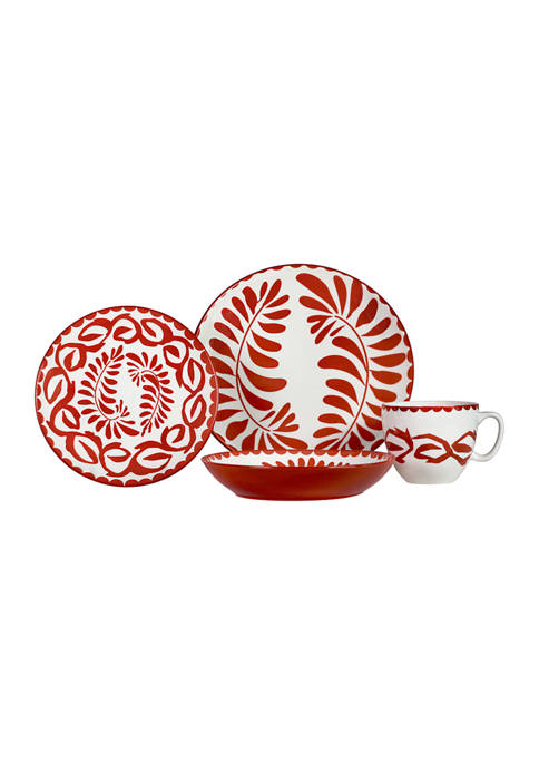 Baum Brothers 16 Piece Ceramic Service for 4