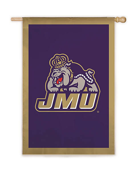 Evergreen JMU Embellished House Flag
