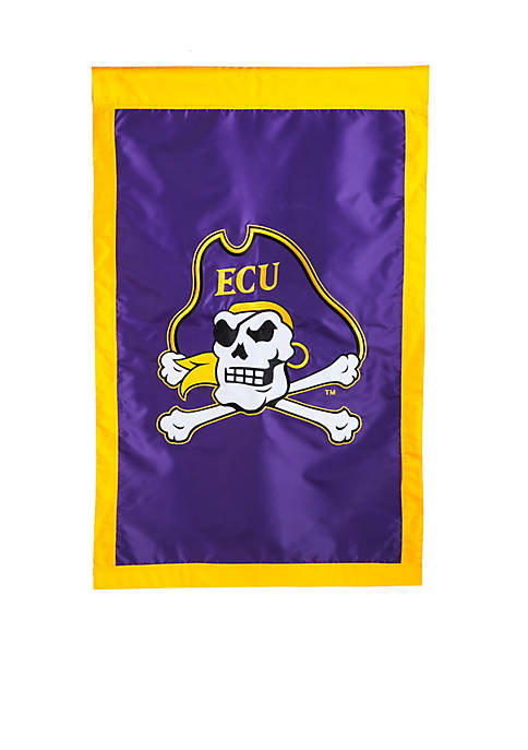 Evergreen Double Sided East Carolina University Flag