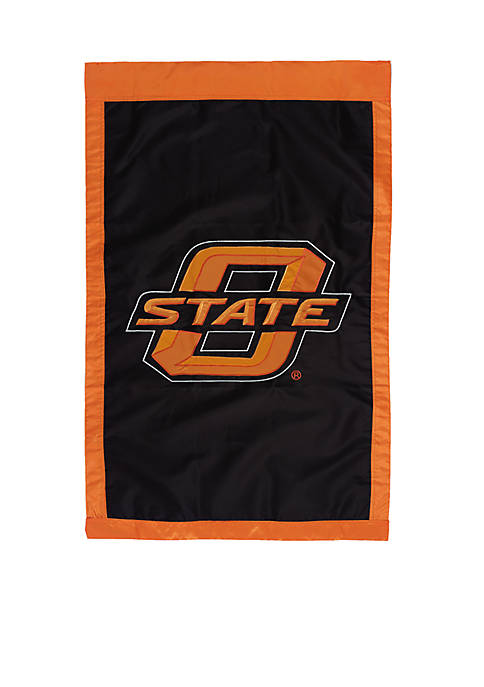 Evergreen Oklahoma State University Embellished House Flag