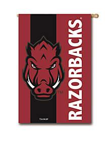Arkansas Razorbacks Embellished House Flag