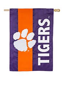 Clemson Tigers Embellished House Flag