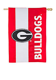 Double Sided University of Georgia Embellished Flag