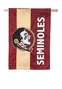 Florida State University Embellished House Flag
