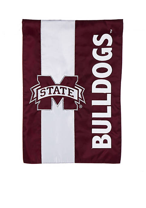 Evergreen Mississippi State Embellished House Flag