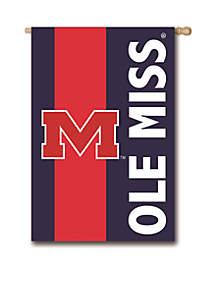 Ole Miss Embellished House Flag