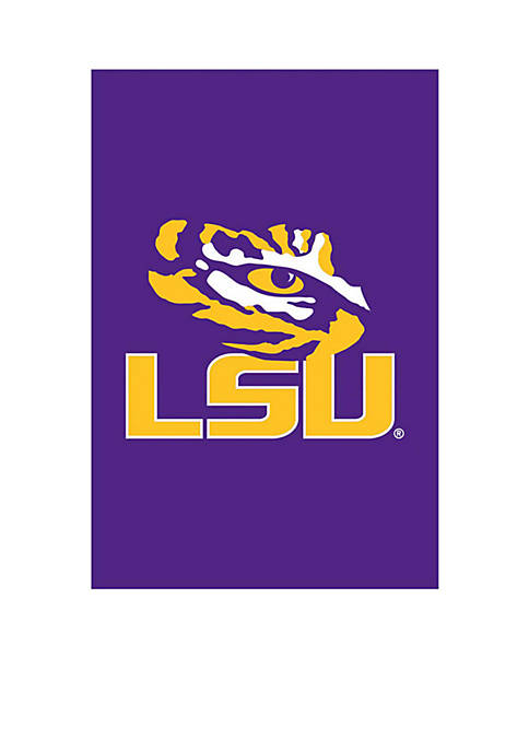 Evergreen LSU Applique Garden Flag