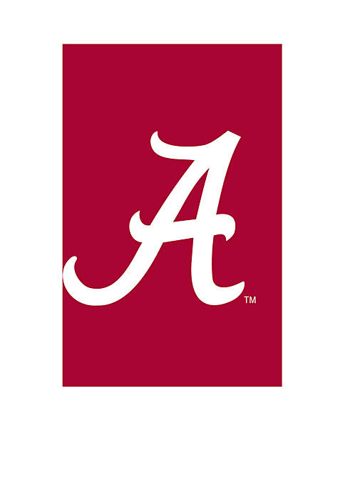 Evergreen Double Sided University of Alabama Applique Flag