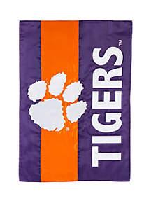 Evergreen NCAA Clemson Tigers Garden Flag
